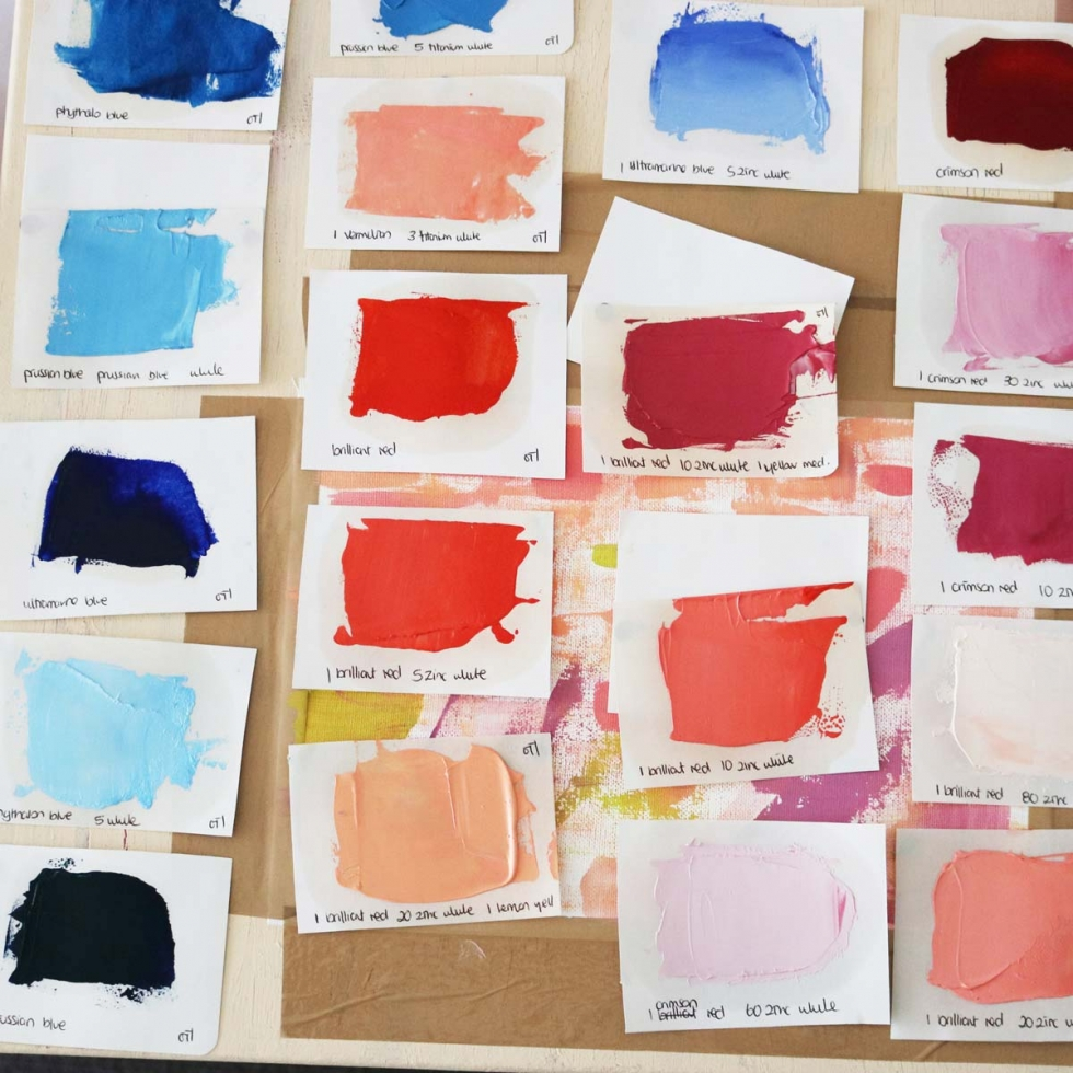 Abstract Art Painting Inspiration // Moments by Charlie Albright | Creative Lifestyle Blog | Art + Fashion + Lifestyle plus Photography | Color Swatches