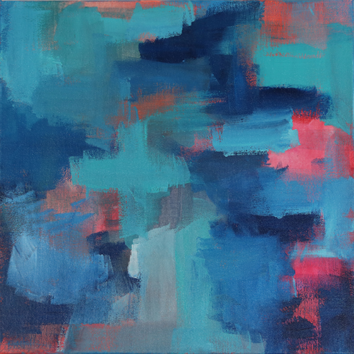 Blue Noise With A Tint of Hope 2 // Abstract Artist Charlie Albright // Moments by Charlie Art + Fashion + Lifestyle + Photography
