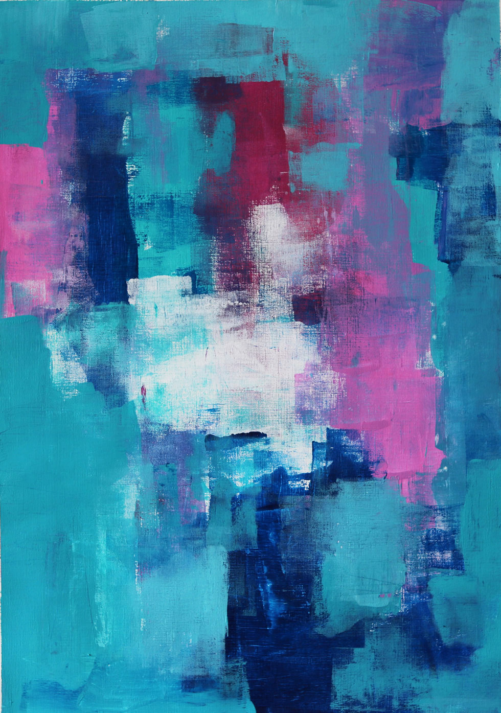 Create Abstract Art Using A Blue, Green and Pink Colour Combination // Moments by Charlie // Australian Abstract Artist, Freelance Photographer and Blogger Charlie Albright // Art + Fashion + Lifestyle + Photography // Made in Adelaide, Australia