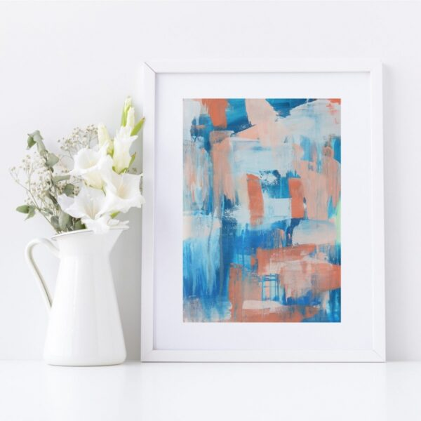 Abstract Fine Art Giclee Print Titled Ocean Shimmer in Size A4 | By Adelaide Abstract Artist Charlie Albright | Moments by Charlie Blog - Online Shop - Creative Freelance Services | Adelaide, South Australia