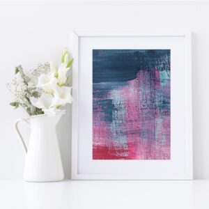 Abstract Fine Art Giclee Print Titled Summer Pink Denim 1 in Size A4 | By Adelaide Abstract Artist Charlie Albright | Moments by Charlie Blog - Online Shop - Creative Freelance Services | Adelaide, South Australia