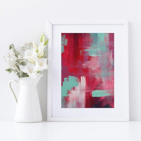 Abstract Fine Art Giclee Print Titled Skater Denim 2 in Size A4 | By Adelaide Abstract Artist Charlie Albright | Moments by Charlie Blog - Online Shop - Creative Freelance Services | Adelaide, South Australia