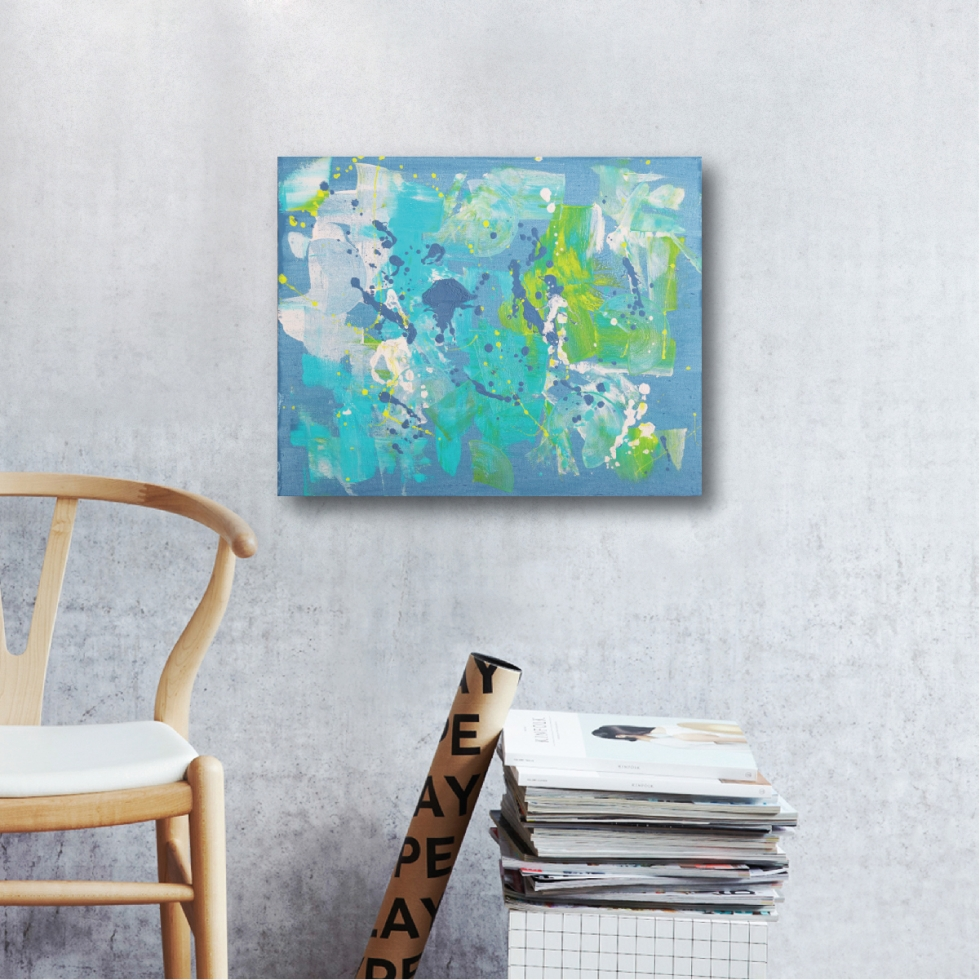 Abstract Acrylic Canvas Art - Facets of Her I by Charlie Albright | Moments by Charlie | Creative Abstract Artist, Photographer and Blogger | Made in Adelaide, Australia