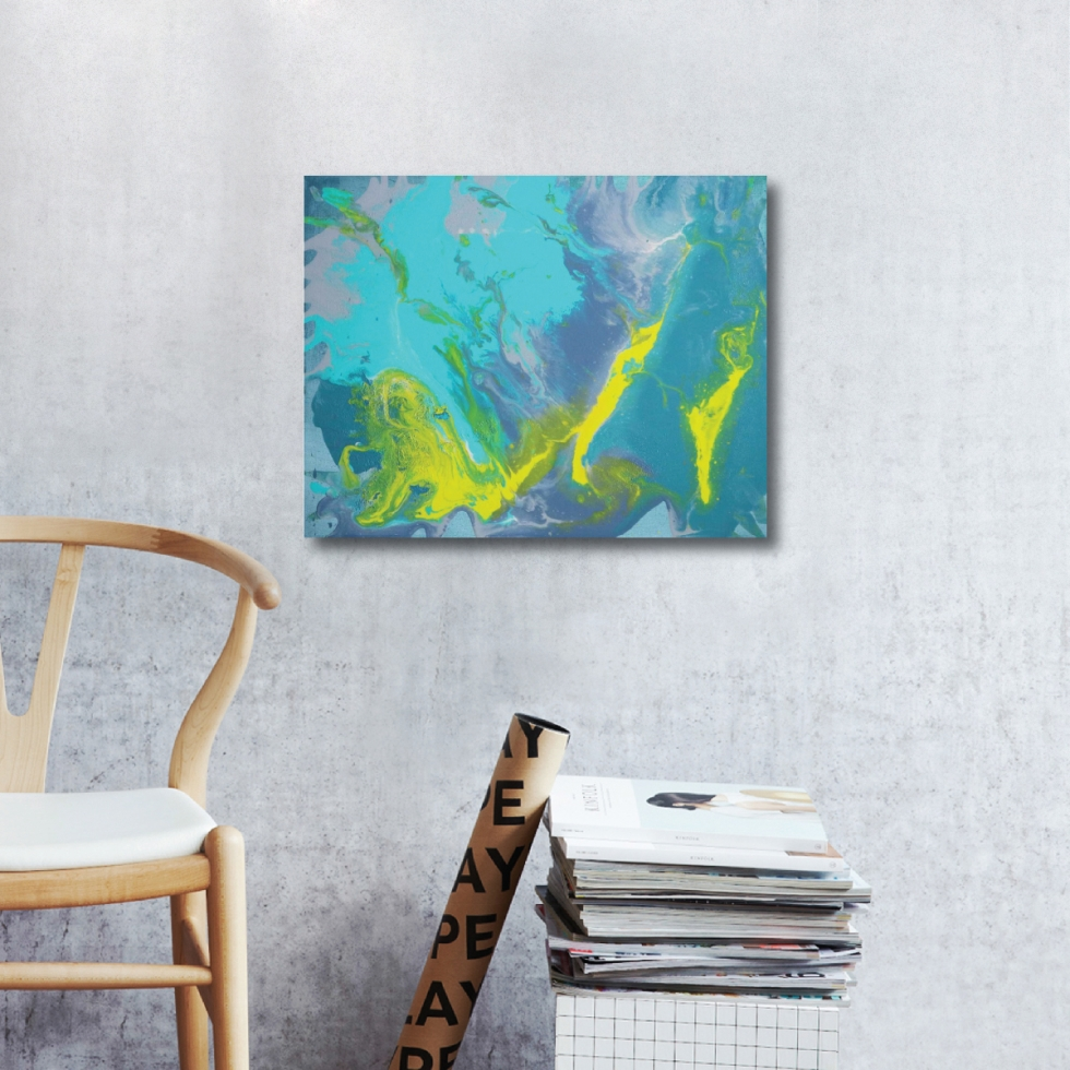 Abstract Acrylic Canvas Art - Facets of Her II by Charlie Albright | Moments by Charlie | Creative Abstract Artist, Photographer and Blogger | Made in Adelaide, Australia