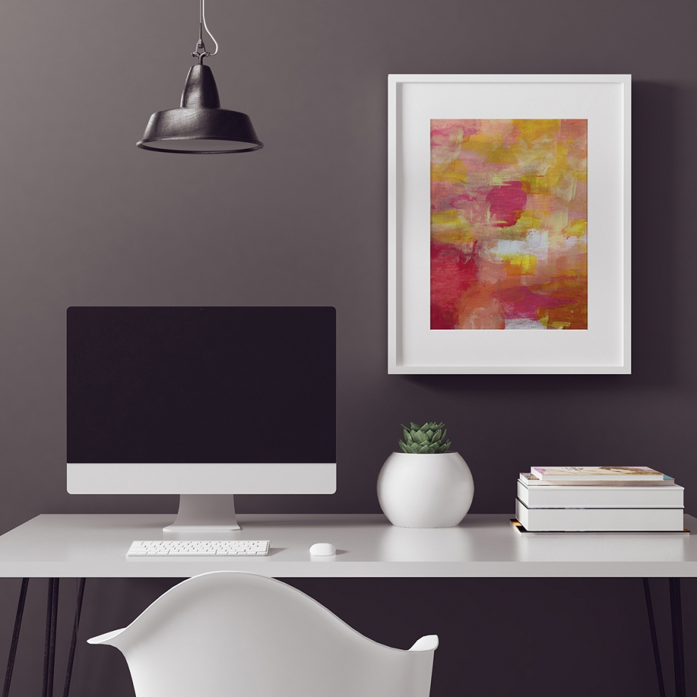 Abstract Fine Art Print -Citrus Love 1 by Charlie Albright | Moments by Charlie | Creative Abstract Artist, Photographer and Blogger | Made in Adelaide, Australia