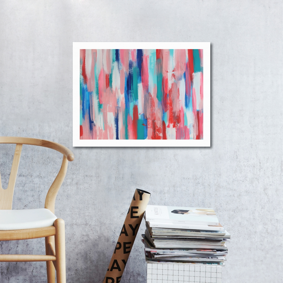 Abstract Acrylic Art On Paper - Maggie by Charlie Albright | Moments by Charlie | Creative Abstract Artist, Photographer and Blogger | Made in Adelaide, Australia