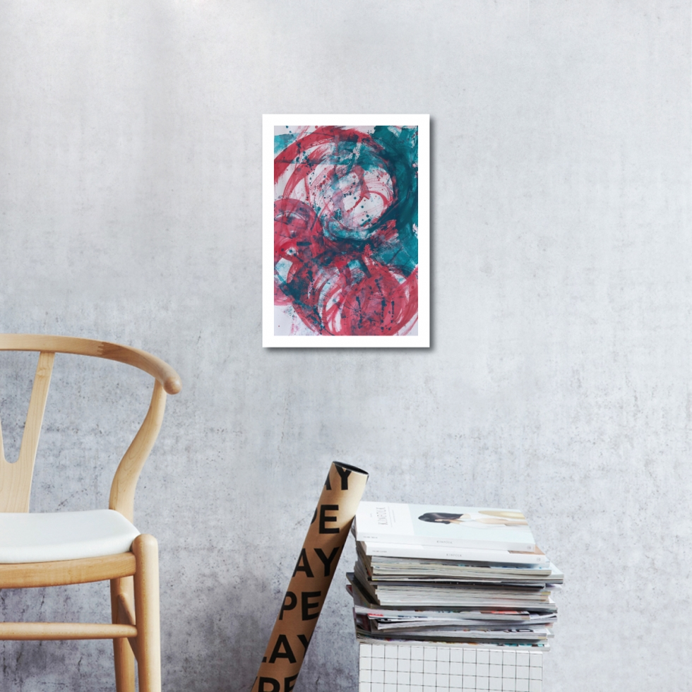 Abstract Acrylic Art On Paper - Render Me Special 1 by Charlie Albright   Moments by Charlie   Creative Abstract Artist, Photographer and Blogger   Made in Adelaide, Australia