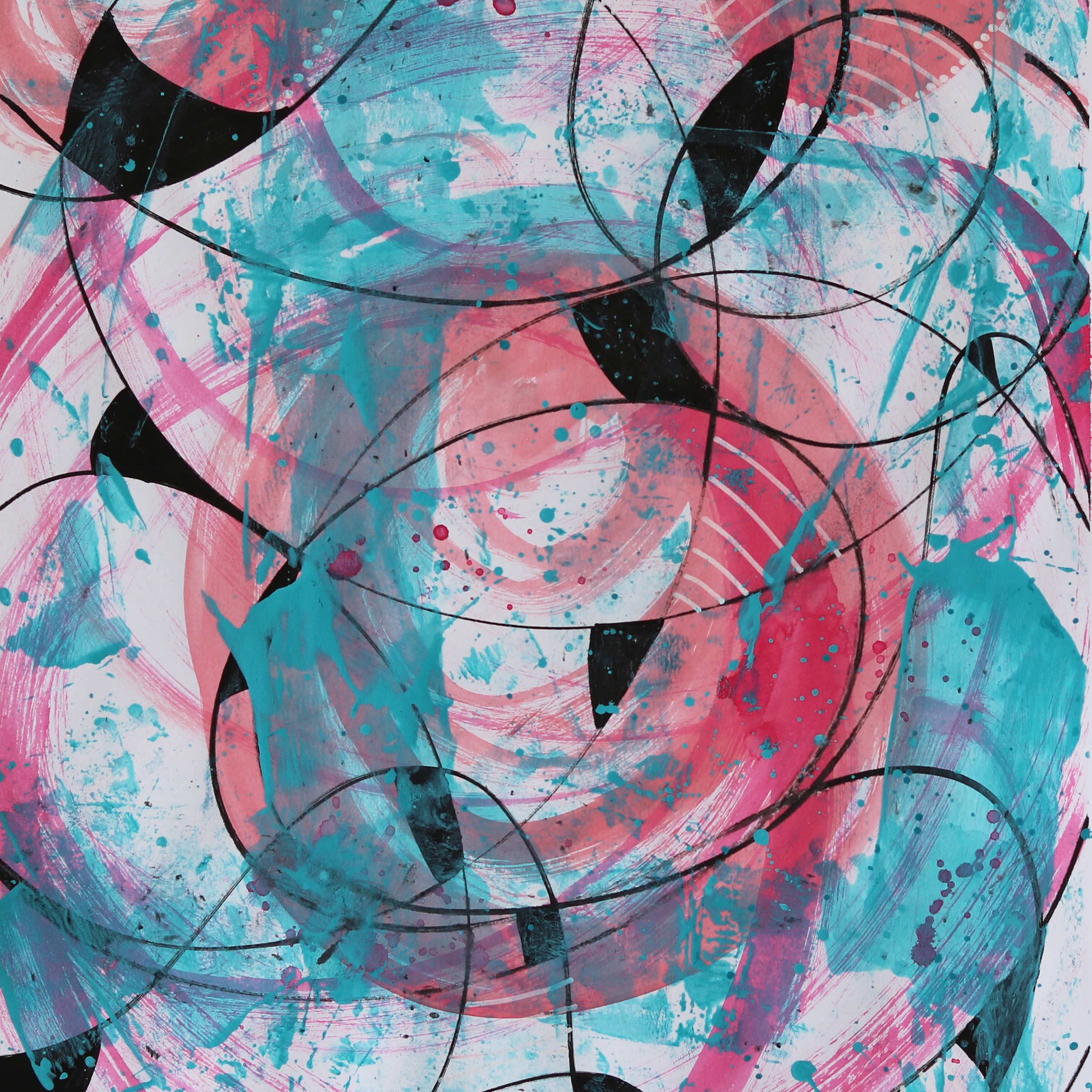 Abstract Acrylic Art On Paper - Render Me Special 3 by Charlie Albright | Moments by Charlie | Creative Abstract Artist, Photographer and Blogger | Made in Adelaide, Australia