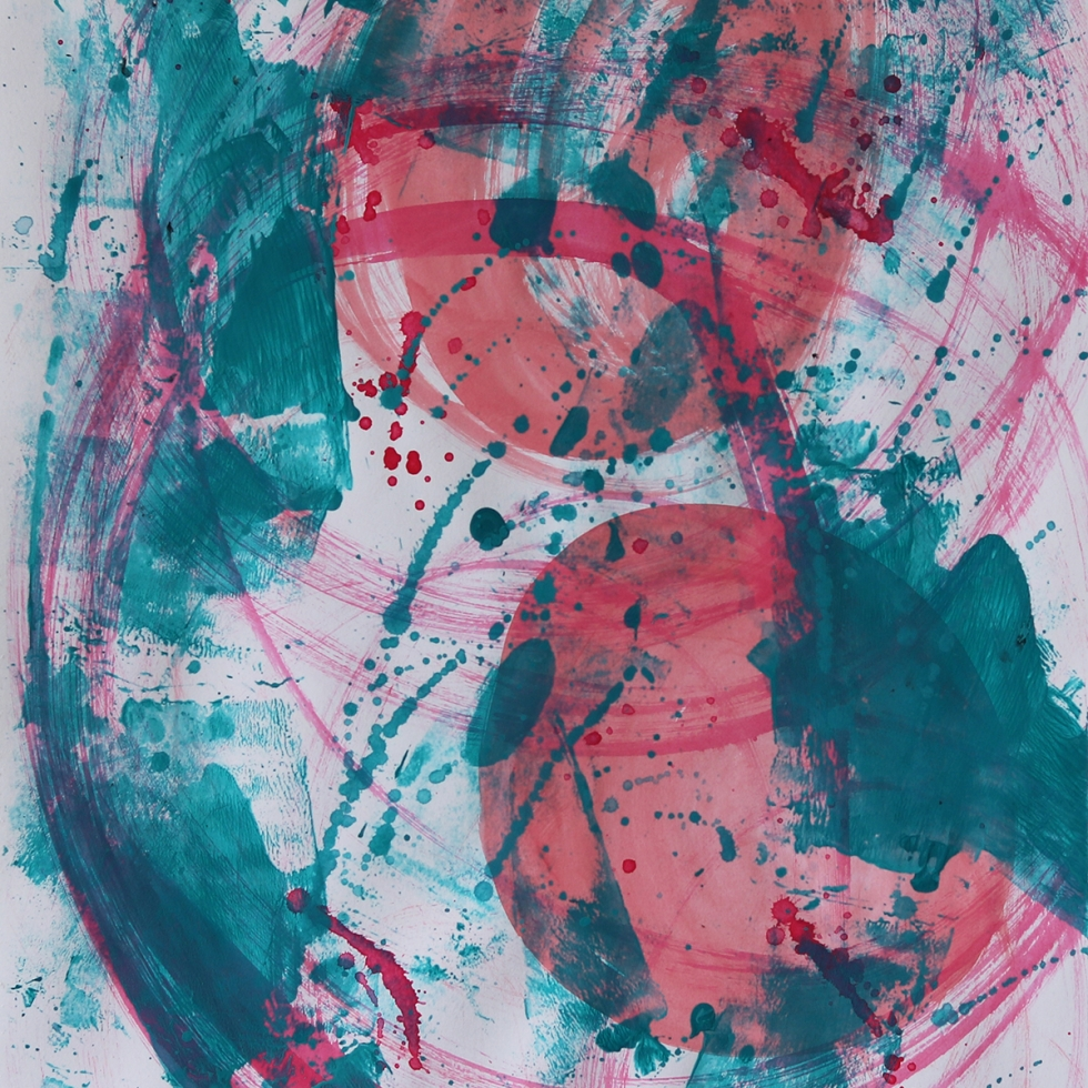 Abstract Acrylic Art On Paper - Render Me Special 5 by Charlie Albright | Moments by Charlie | Creative Abstract Artist, Photographer and Blogger | Made in Adelaide, Australia