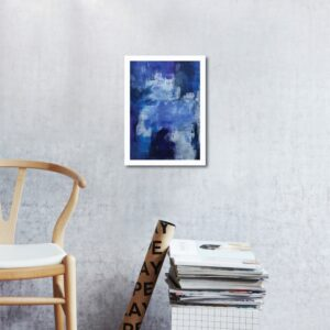 Abstract Acrylic Art On Paper - To The Harbour And Back 1 by Charlie Albright | Moments by Charlie | Creative Abstract Artist, Photographer and Blogger | Made in Adelaide, Australia
