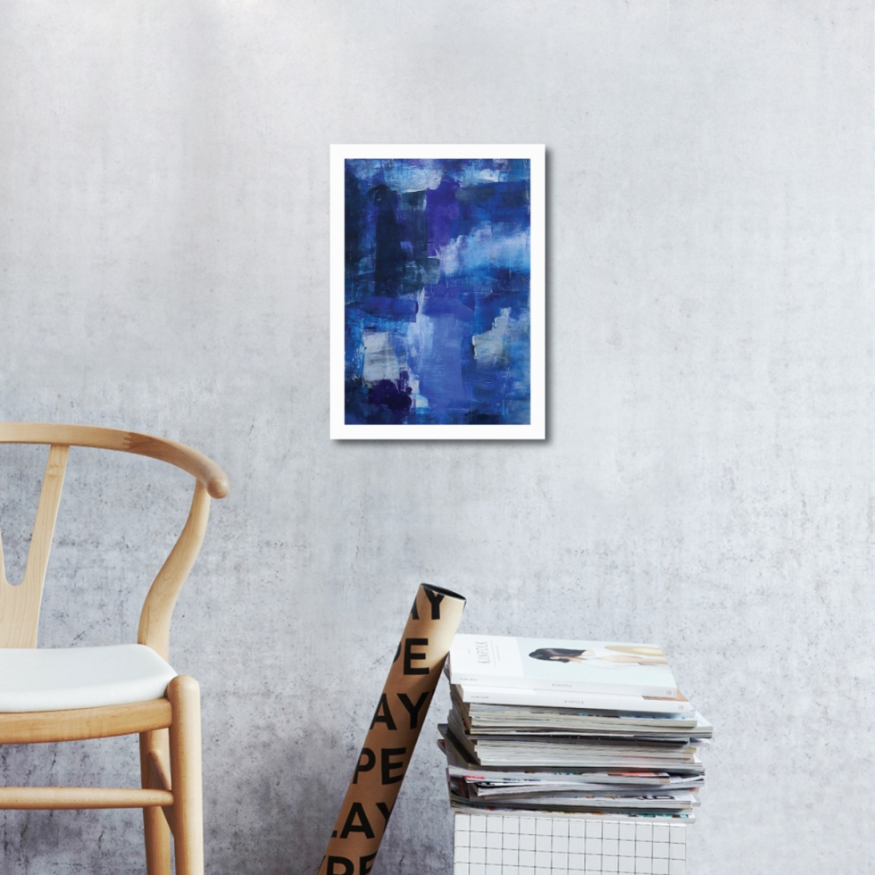 Abstract Acrylic Art On Paper - To The Harbour And Back 2 by Charlie Albright | Moments by Charlie | Creative Abstract Artist, Photographer and Blogger | Made in Adelaide, Australia