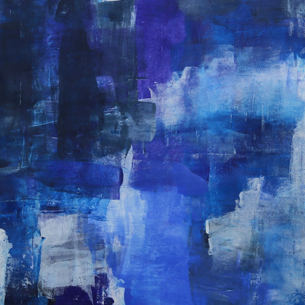 Abstract Acrylic Art On Paper - To The Harbour And Back 2 by Charlie Albright   Moments by Charlie   Creative Abstract Artist, Photographer and Blogger   Made in Adelaide, Australia