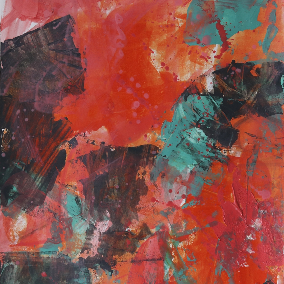 Abstract Acrylic Art On Paper - Zesty 1 by Charlie Albright   Moments by Charlie   Creative Abstract Artist, Photographer and Blogger   Made in Adelaide, Australia