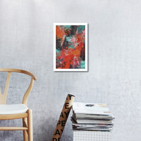 Abstract Acrylic Art On Paper - Zesty 2 by Charlie Albright | Moments by Charlie | Creative Abstract Artist, Photographer and Blogger | Made in Adelaide, Australia
