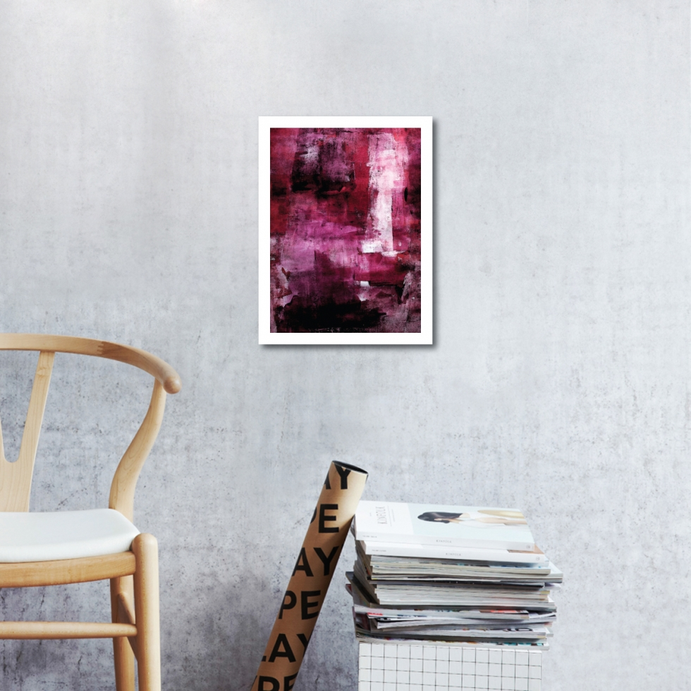 Abstract Fine Art Print - Red Velvet 2 by Charlie Albright | Moments by Charlie | Creative Abstract Artist, Photographer and Blogger | Made in Adelaide, Australia