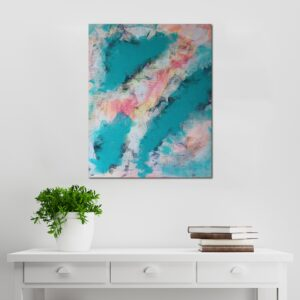 Abstract Acrylic Canvas Art - Ebb & Flow 3 - Movement Collection by artist Charlie Albright | Moments by Charlie | Creative Visual Artist, Photographer and Blogger | Made in Adelaide, Australia