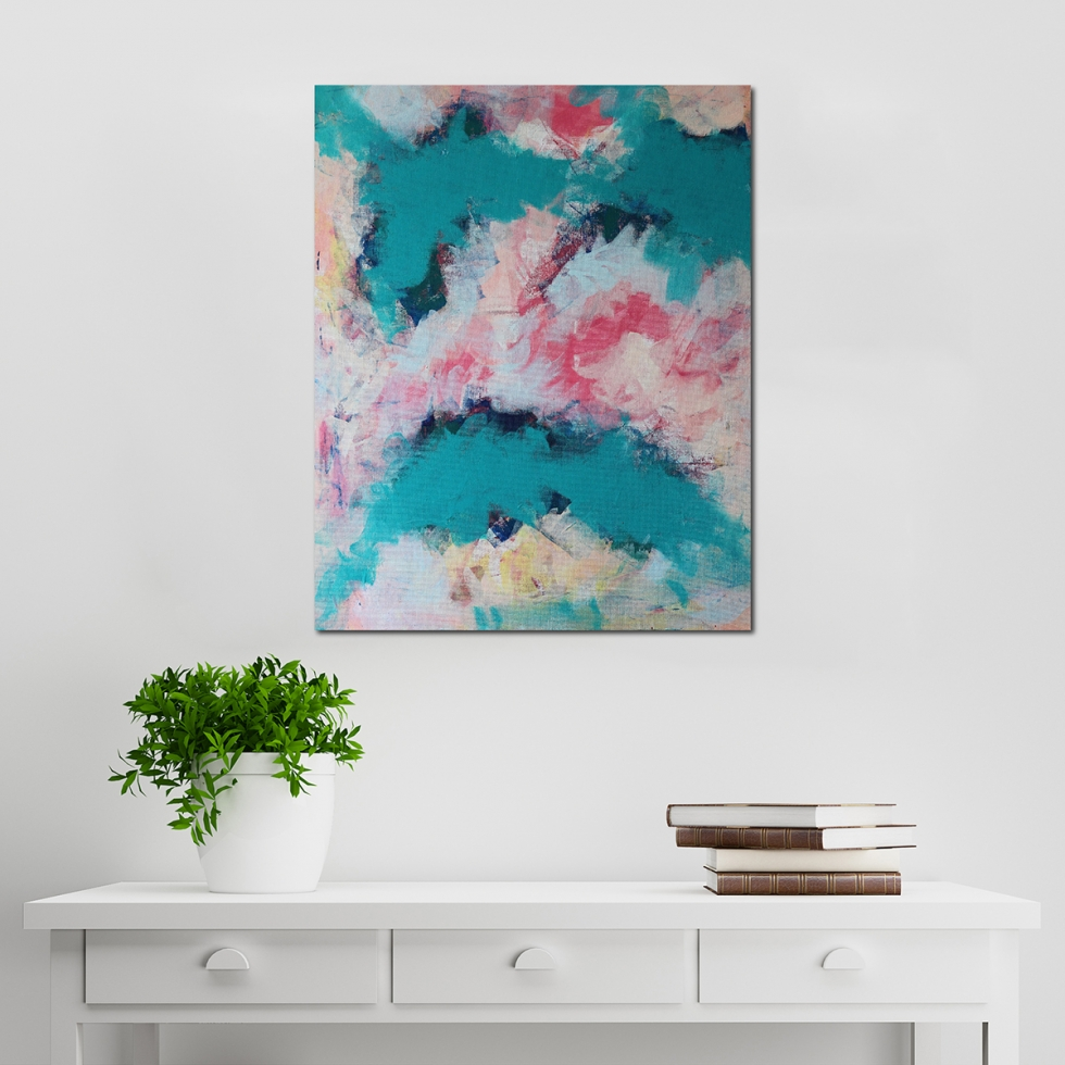 Abstract Acrylic Canvas Art - Ebb & Flow 4 - Movement Collection by artist Charlie Albright | Moments by Charlie | Creative Visual Artist, Photographer and Blogger | Made in Adelaide, Australia