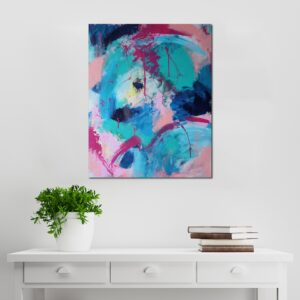 Abstract Acrylic Canvas Art - The Happy Traverse - Movement Collection by artist Charlie Albright | Moments by Charlie | Creative Visual Artist, Photographer and Blogger | Made in Adelaide, Australia
