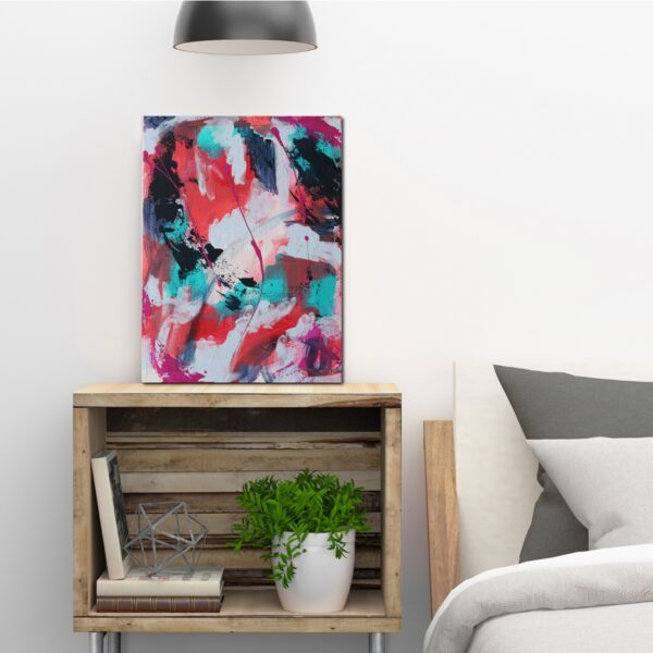 Abstract Acrylic Canvas Art - The Lit Path Ahead - Movement Collection by artist Charlie Albright | Moments by Charlie | Creative Visual Artist, Photographer and Blogger | Made in Adelaide, Australia