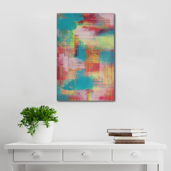 Abstract Acrylic Canvas Art - Little Yellow Wanderer - by Australian abstract artist Charlie Albright   Moments by Charlie   Creative Visual Artist, Photographer and Blogger   Made in Adelaide, Australia