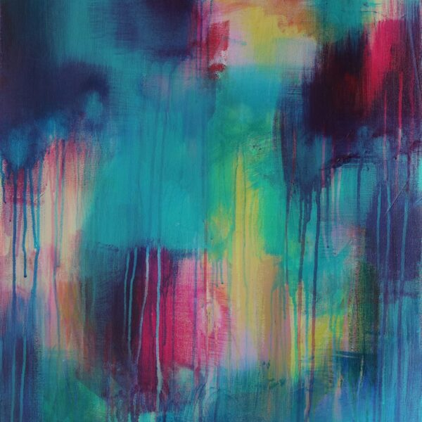 Abstract Art Titled Blessing In Disguise By Creative Visual Artist Charlie Albright | SALA 2018 Collection - Chasing Dancing Colours | Moments by Charlie Online Shop | Adelaide, South Australia