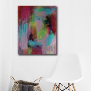 Abstract Art Titled Inner Guidance System By Creative Visual Artist Charlie Albright | SALA 2018 Collection - Chasing Dancing Colours | Moments by Charlie Online Shop | Adelaide, South Australia