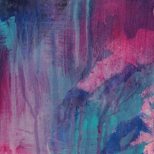 Abstract Art Titled Tiny Seed Of Hope By Creative Visual Artist Charlie Albright | SALA 2018 Collection - Chasing Dancing Colours | Moments by Charlie Online Shop | Adelaide, South Australia
