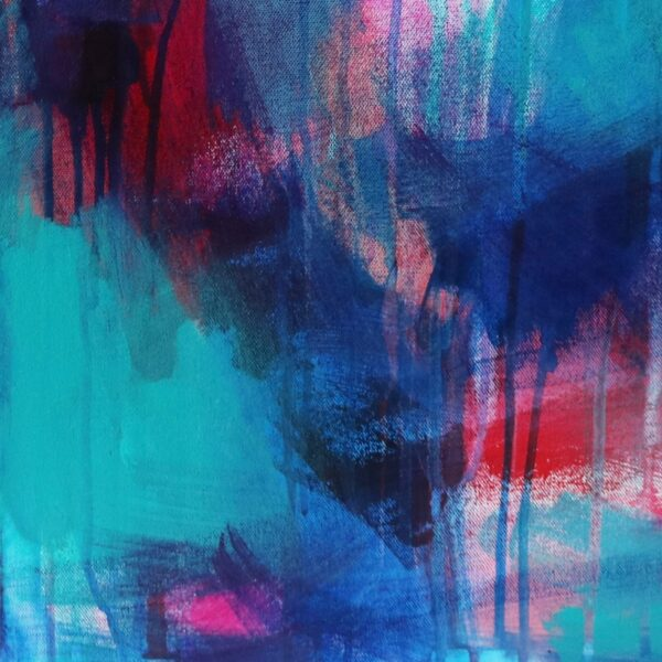 Abstract Canvas Art Titled Choose A Path By Creative Visual Artist Charlie Albright | Glenside Art Show 2018 - Mini Exhibition - Where There's A Will, There's A Way | Moments by Charlie Online Shop | Adelaide, South Australia