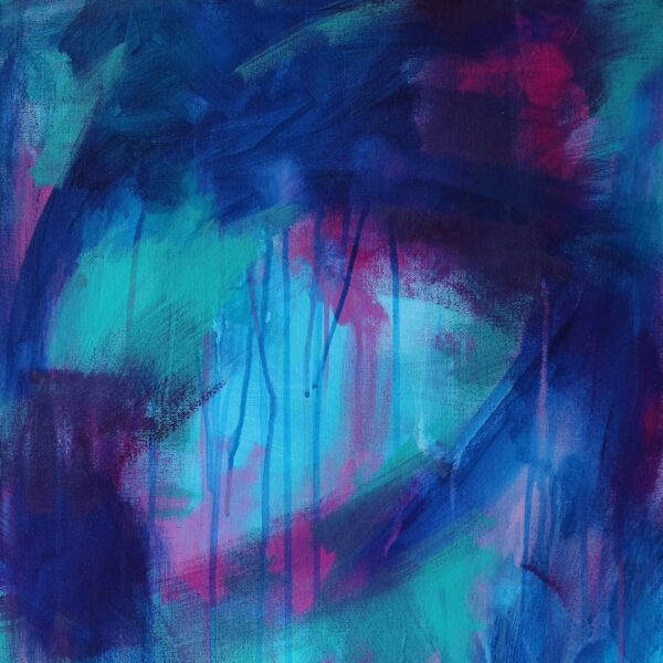 Abstract Canvas Art Titled The Lit Path By Creative Visual Artist Charlie Albright | Glenside Art Show 2018 - Mini Exhibition - Where There's A Will, There's A Way | Moments by Charlie Online Shop | Adelaide, South Australia