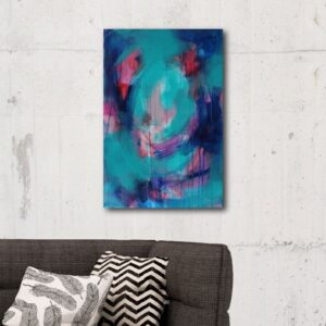 Abstract Canvas Art Titled There's Always A Path By Creative Visual Artist Charlie Albright   Glenside Art Show 2018 - Mini Exhibition - Where There's A Will, There's A Way   Moments by Charlie Online Shop   Adelaide, South Australia