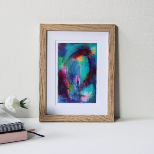 "Framed Art Print Titled Multiple Paths By Creative Visual Artist Charlie Albright | Natural Oak Frame 6"" x 8"" Mount 4"" x 6"" 
