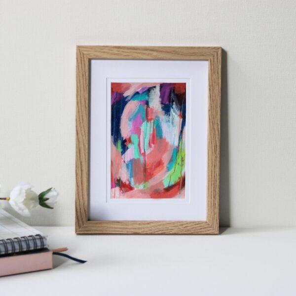 "Framed Art Print Titled On The Way There By Creative Visual Artist Charlie Albright | Natural Oak Frame 6"" x 8"" Mount 4"" x 6"" 