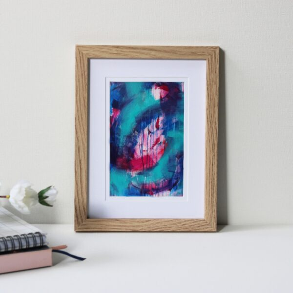 "Framed Art Print Titled Another Blessing In Disguise By Creative Visual Artist Charlie Albright | Natural Oak Frame 6"" x 8"" Mount 4"" x 6"" 