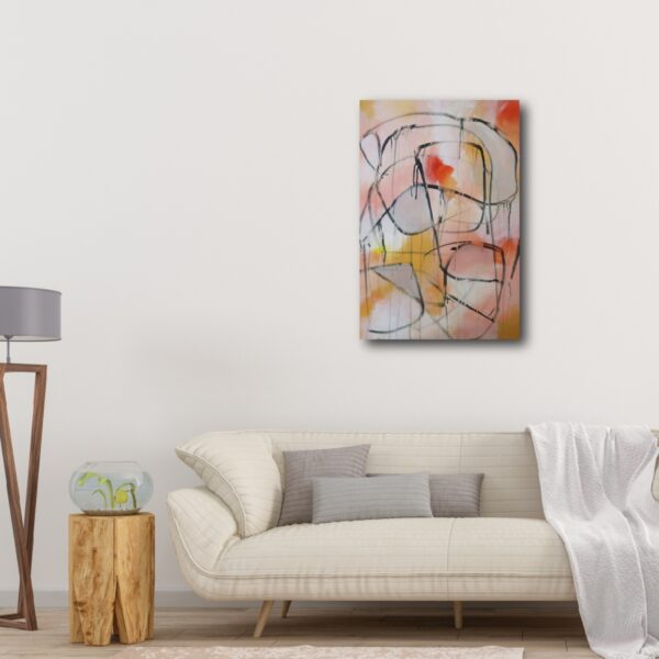 "Abstract Canvas Art Titled In That Moment By Adelaide Artist Charlie Albright | Canvas Size 20"" x 30"" 