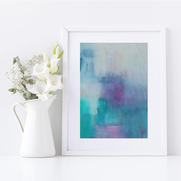 Abstract Fine Art Giclee Print Titled Summer Isabella's Son 2 in Size A4 | By Adelaide Abstract Artist Charlie Albright | Moments by Charlie Blog - Online Shop - Creative Freelance Services | Adelaide, South Australia