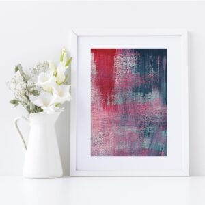 Abstract Fine Art Giclee Print Titled Summer Pink Denim 3 in Size A4 | By Adelaide Abstract Artist Charlie Albright | Moments by Charlie Blog - Online Shop - Creative Freelance Services | Adelaide, South Australia