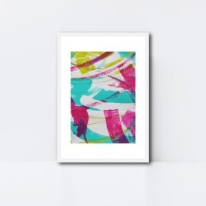 Abstract Art Framed Original On Art Paper Titled Reignite 2 | By Adelaide Abstract Artist Charlie Albright | Moments by Charlie Blog - Online Shop - Creative Freelance Services | Adelaide, South Australia