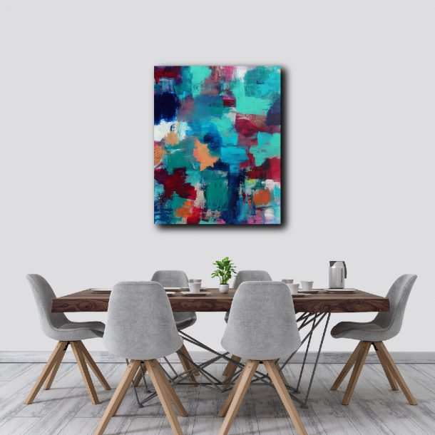 """Abstract Canvas Art Titled All The Work Was Done By Adelaide Abstract Artist Charlie Albright   Canvas Size 24"""" x 30""""   Moments by Charlie Blog - Online Shop - Creative Freelance Services   Adelaide, South Australia"""