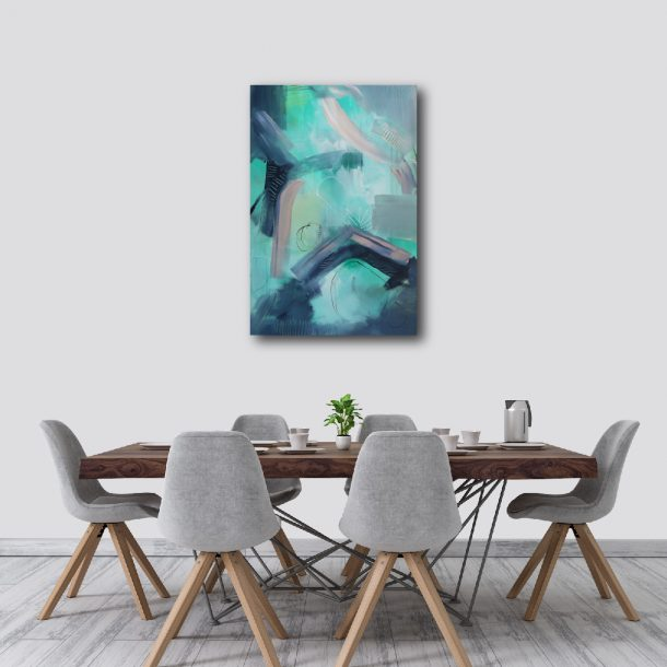 """Abstract Canvas Art Titled On The Horizon By Adelaide Abstract Artist Charlie Albright   Canvas Size 24"""" x 30""""   Moments by Charlie Blog - Online Shop - Creative Freelance Services   Adelaide, South Australia"""