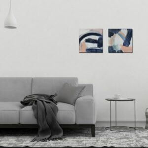 "Abstract Canvas Art (Two-Piece Set) Titled The Elephant By Adelaide Abstract Artist Charlie Albright | Each Canvas Size 12"" x 12"" 