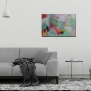 "Abstract Canvas Art Titled Flickers In The Night By Adelaide Abstract Artist Charlie Albright | Each Canvas Size 36"" x 24"" 