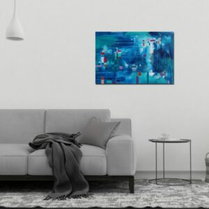 "Abstract Canvas Art Titled Infinite Possibilities By Adelaide Abstract Artist Charlie Albright | Each Canvas Size 36"" x 24"" 