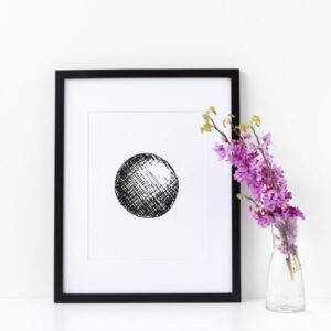 Illustration Art Print Unframed Titled Thy Circle 1 | By Adelaide Abstract Artist Charlie Albright | Moments by Charlie Blog - Online Shop - Creative Freelance Services | Adelaide, South Australia