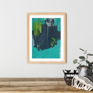 Abstract Art On Paper Titled Away From The Moonlight by Australian Abstract Artist Charlie Albright | Size A3 Unframed | Moments by Charlie Website - Online Shop | Adelaide, South Australia