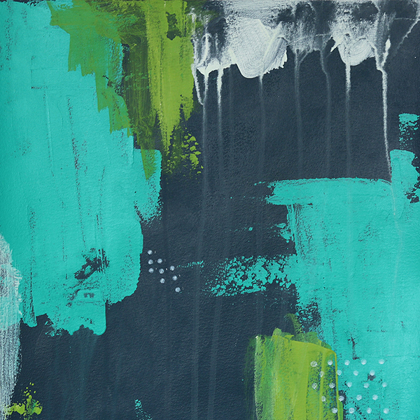 Abstract Art On Paper Titled Up North by Australian Abstract Artist Charlie Albright | Size A3 Unframed | Moments by Charlie Website - Online Shop | Adelaide, South Australia