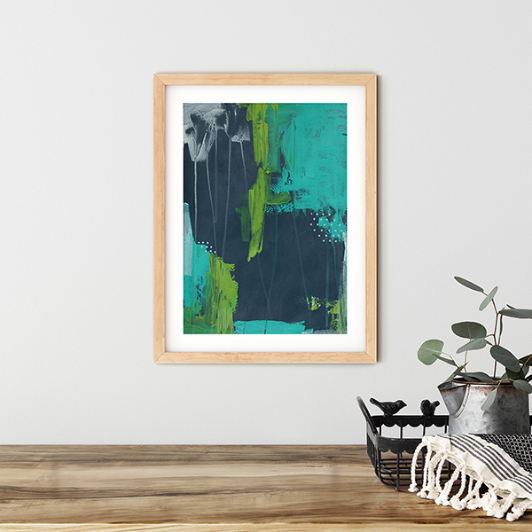 Abstract Art On Paper Titled Navigate By The Stars by Australian Abstract Artist Charlie Albright | Size A3 Unframed | Moments by Charlie Website - Online Shop | Adelaide, South Australia