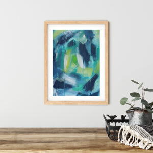 Abstract Art On Paper Titled Sweet Storm by Australian Abstract Artist Charlie Albright | Size A3 Unframed | Moments by Charlie Website - Online Shop | Adelaide, South Australia