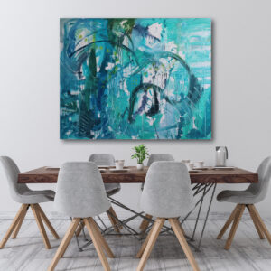Moments by Charlie | Journey of Creative Pursuits by South Australian artist Charlie Albright. Abstract wall art on stretched canvas titled Musical Notes.