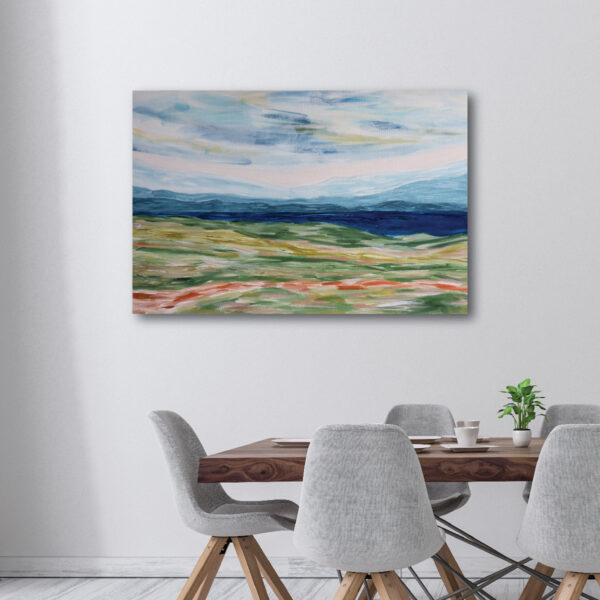 Moments by Charlie | Journey of Creative Pursuits by South Australian artist Charlie Albright. Abstract landscape wall art on stretched canvas titled Near The Coast.