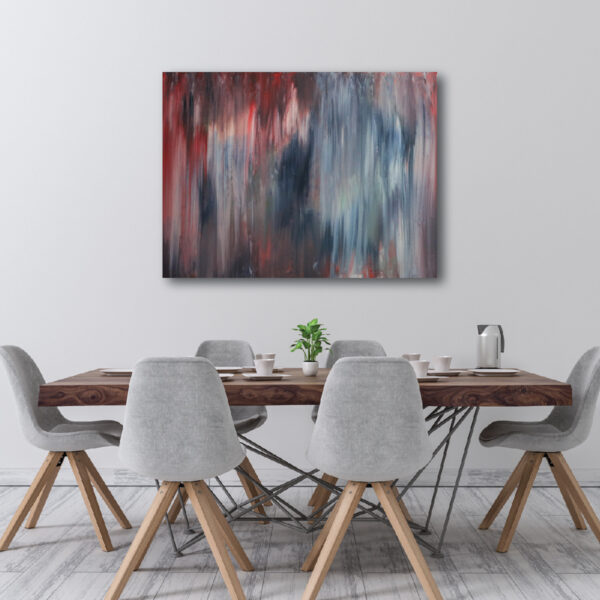 Moments by Charlie | Journey of Creative Pursuits by South Australian artist Charlie Albright. Large abstract art on stretched canvas titled Rainy French Nights.